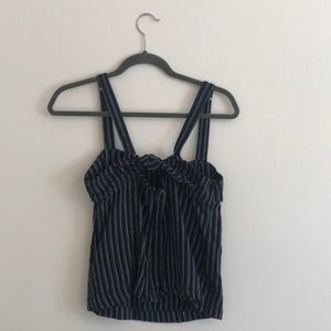 Blue and white stripe Point Sur top